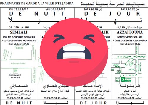 Pharmacie de garde Casablanca - notice papier pas bien