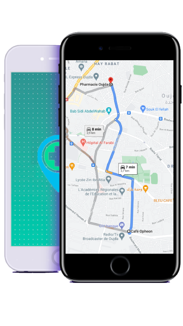 Pharmacie de Garde Oujda - map